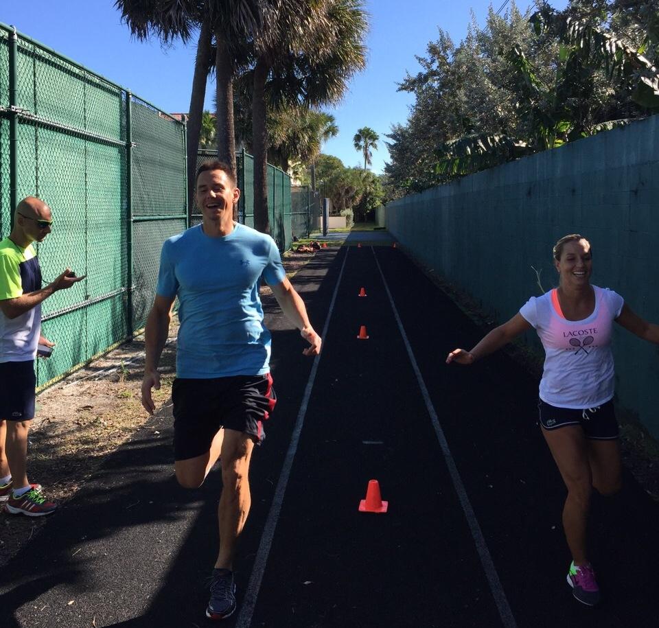 tenisový tréning